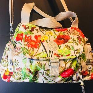 Kipling Floral Nylon Crossbody Bag